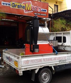 pengiriman mesin sangrai kopi robhan coffee roaster